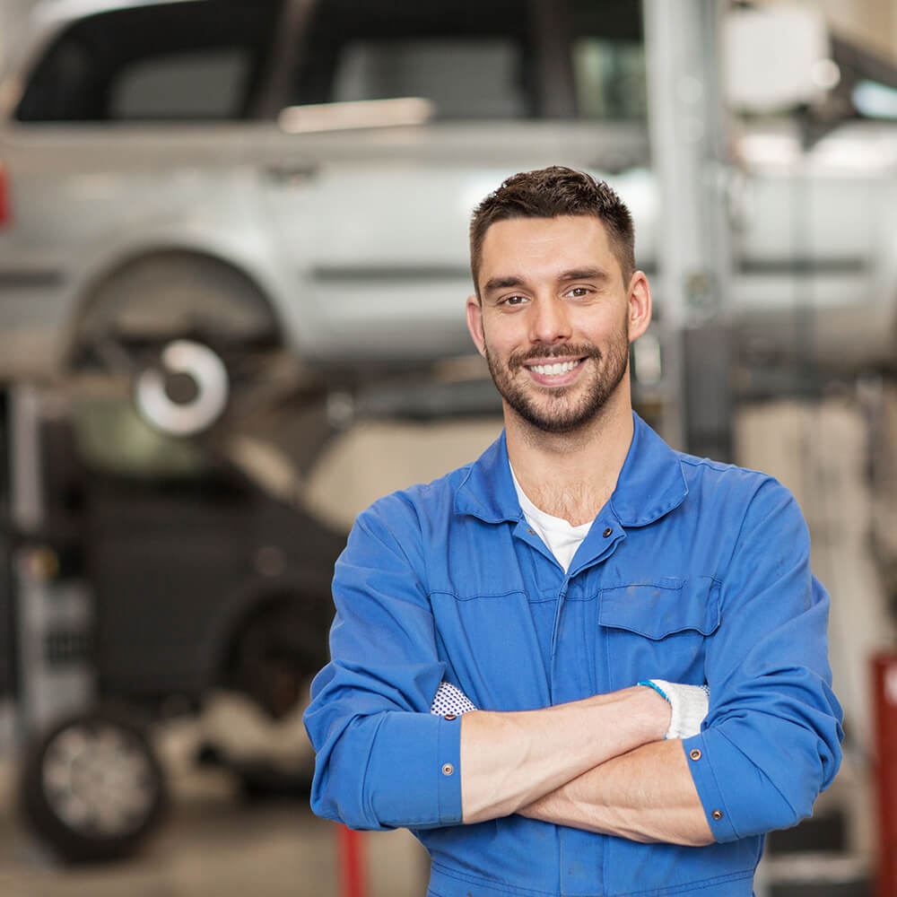 A male automotive technician