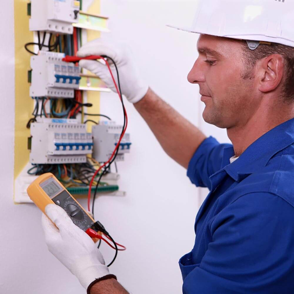 A male electrical inspector
