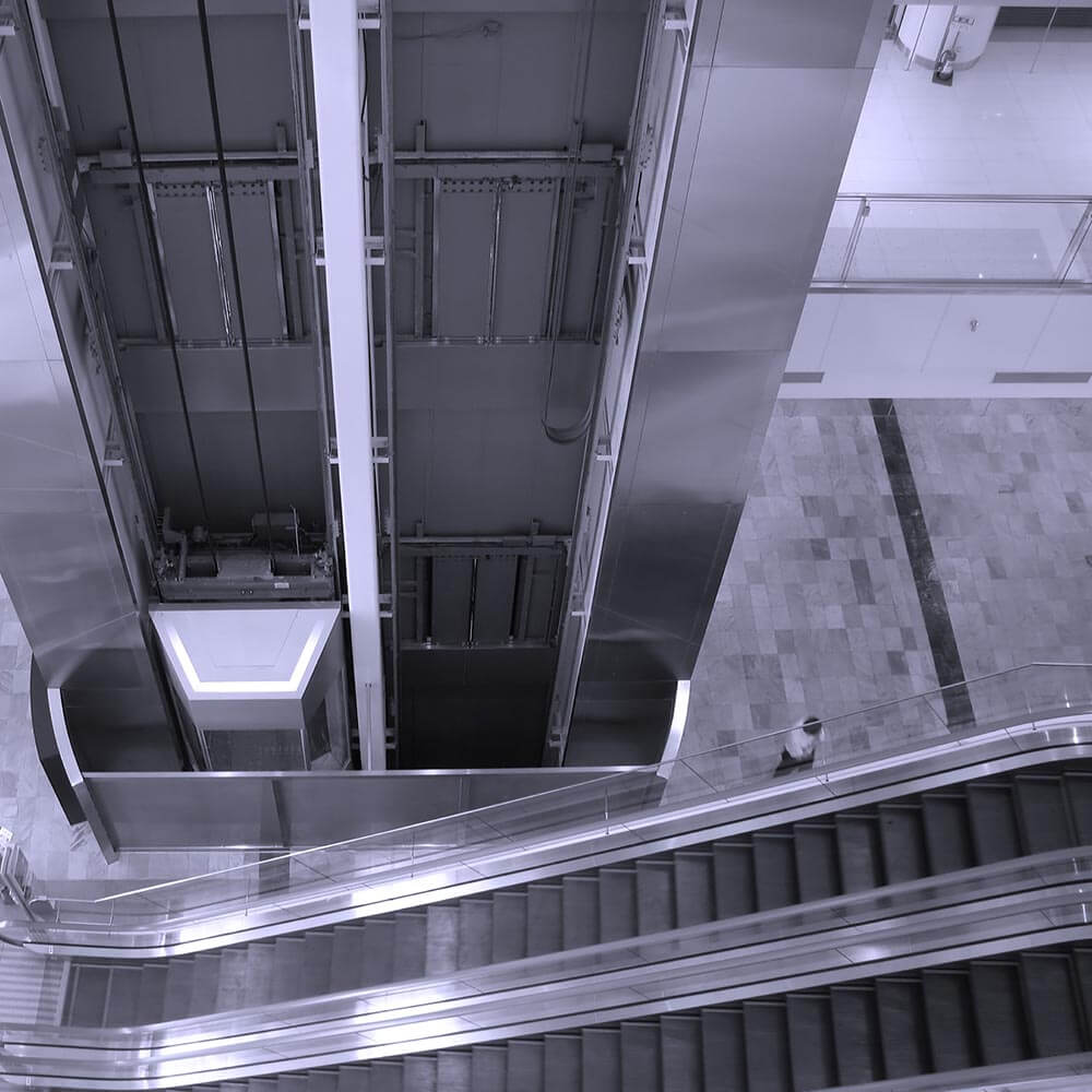 Image of elevator and escalator.