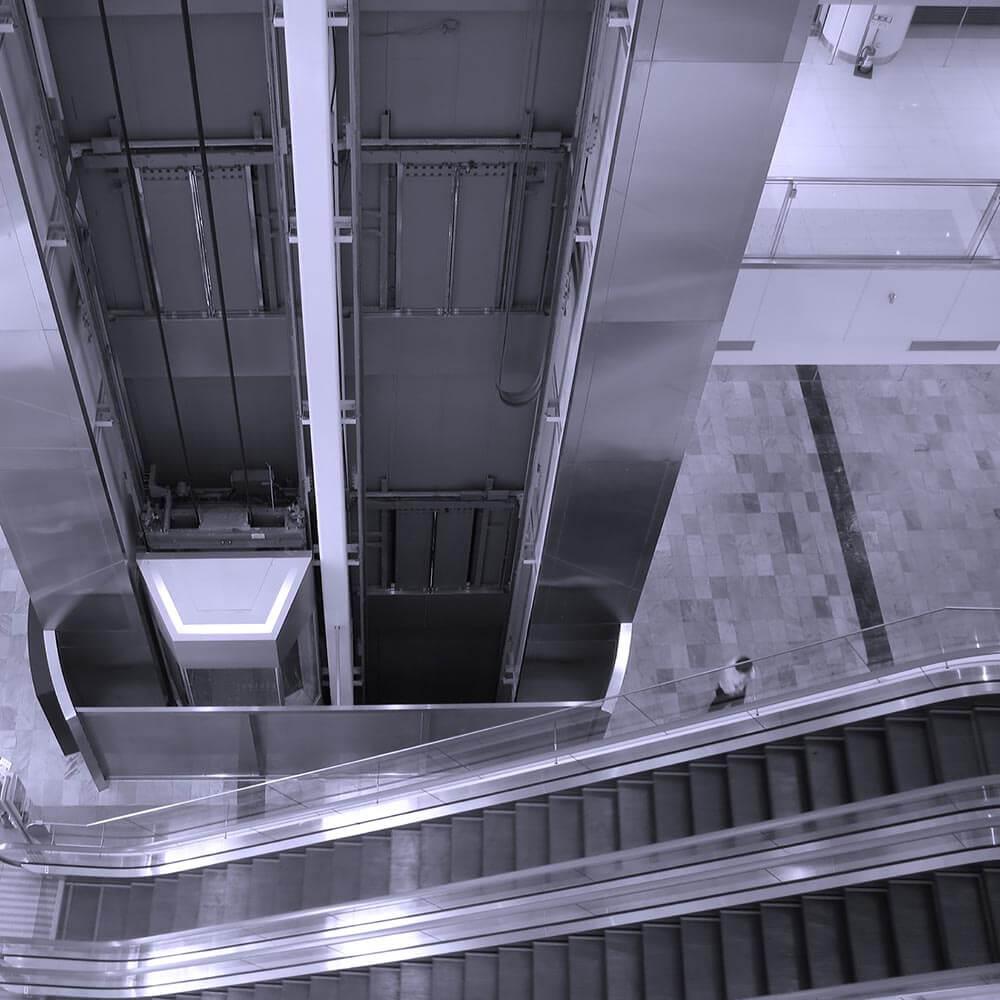 Image of elevator and escalator.