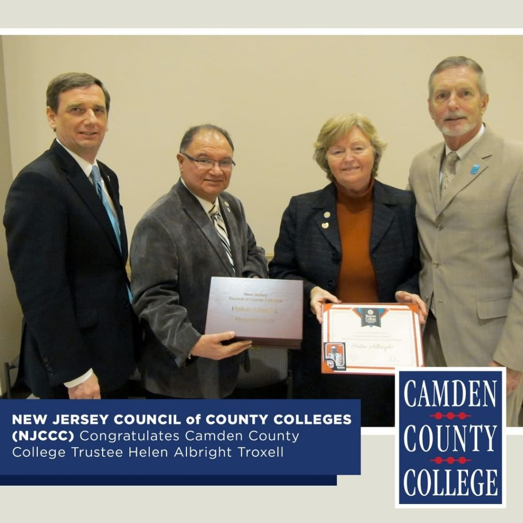 Helen Albright Troxell, CCC Trustee, Honored by NJCCC