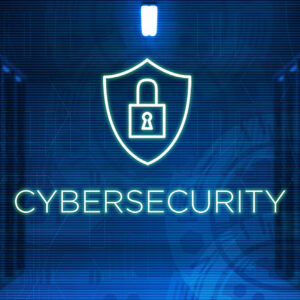 cybersecurity graphic with a lock