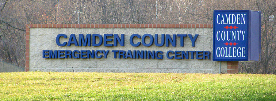Camden County Emergency Training Center sign