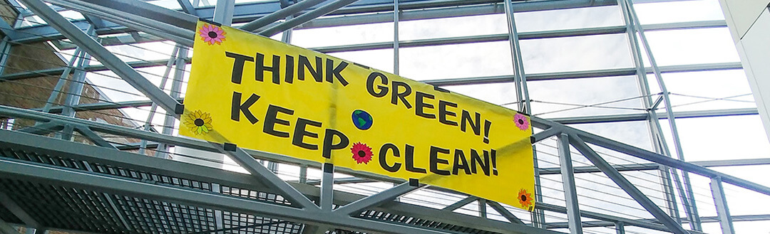 Think Green and Keep Clean Banner