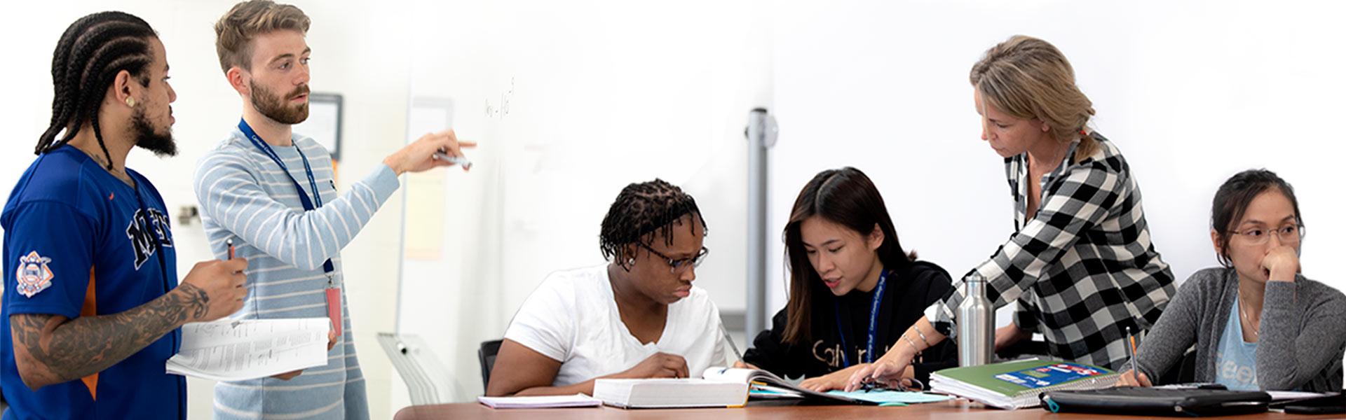 tutors helping students