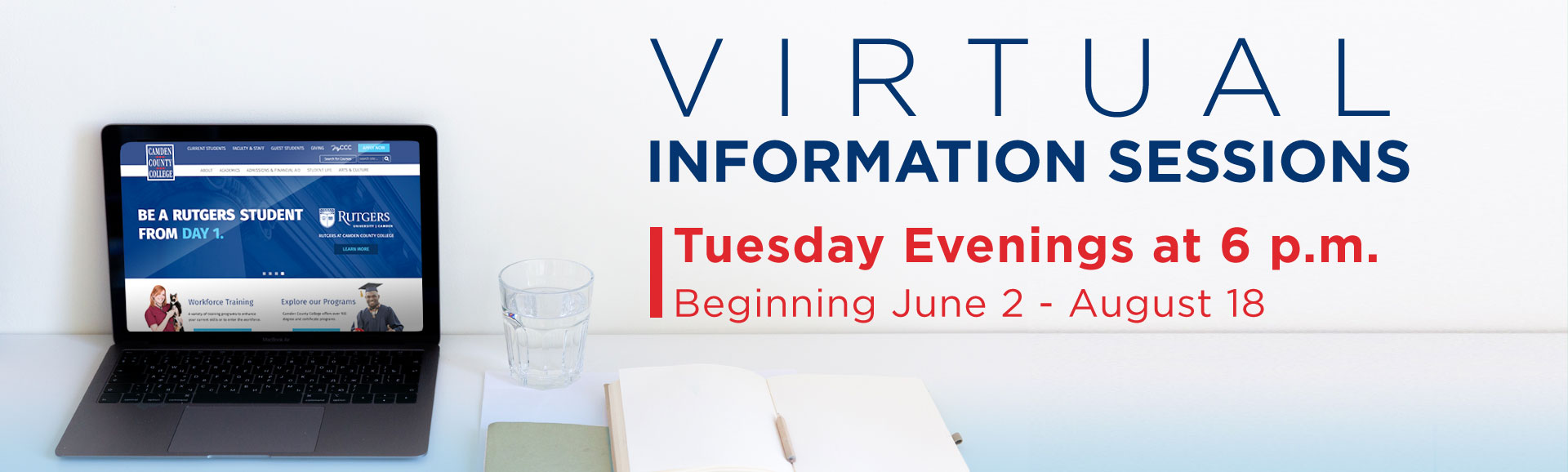 Virtual Info Sessions Tuesday Evenings at 6 PM